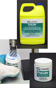 ProLube extends the life of cutting tools - ideal for cutting steel, stainless steel and hard metals