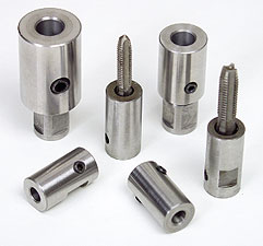 Tap collets for magnetic drills