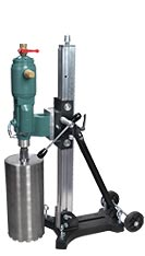"Pneumatic Core Drill with a Drilling Capacity of up to 12"" in diameter"