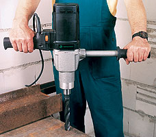 slow-speed electric drill and drive unit