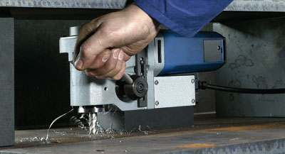 Horizontal magnetic drill
