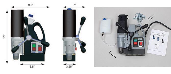 MDM-40 Portable Mag Drill Dimensions