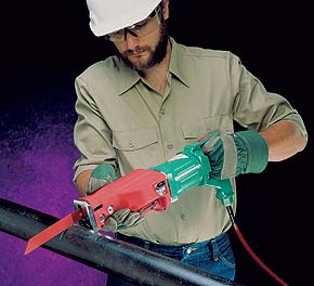 Hand-held 1.6 HP Pneumatic Reciprocating Saw