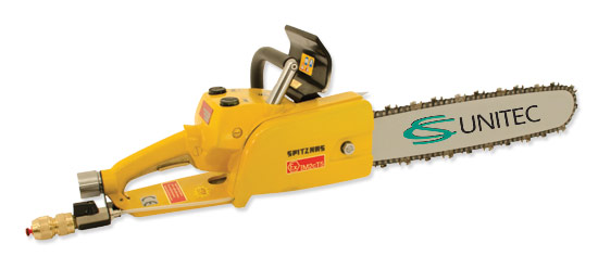 Pneumatic chainsaw - ATEX Classified for hazardous environments