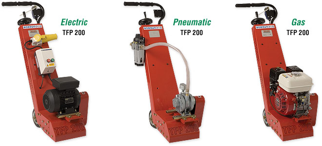 Floor Scarifiers – Electric, Pneumatic and Gas