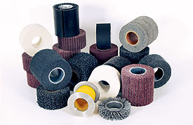 Hollow-core abrasives for surface finishing and linear grinding