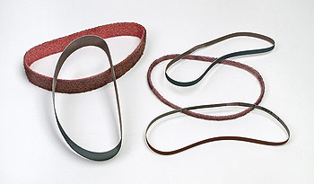 Finger sander belts