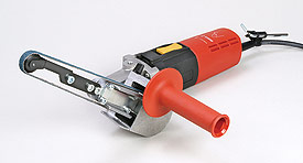 Electric finger belt sander