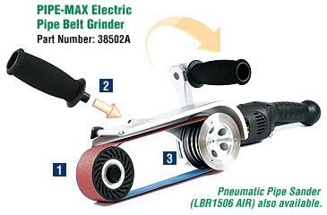 PIPE-MAX Electric Pipe Belt Grinder