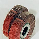Spare flap wheels for sheet metal deburring machine