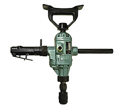 Woodboring air drill, reversible, for underwater drilling and other wood boring applications