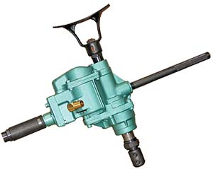 woodboring air drills, reversible, for underwater drilling and other wood boring applications