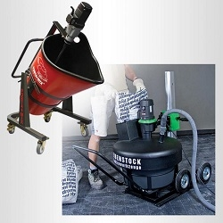 portable mixing machines with dust collection