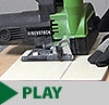 Demonstration of wet and dry tile cutting saw