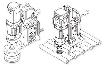 Dibujo de taladro magnético personalizado