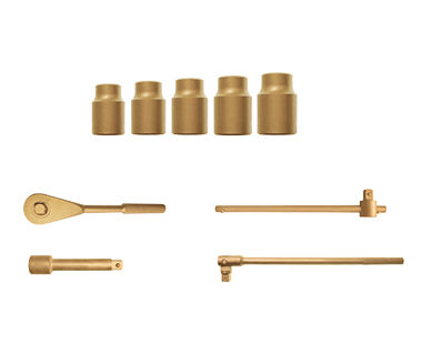 "Ex1535-Kit 10-Piece Kit - Regular Sockets, 6-Point, 1/2"" Drive"