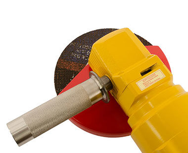 Underwater hydraulic angle grinder