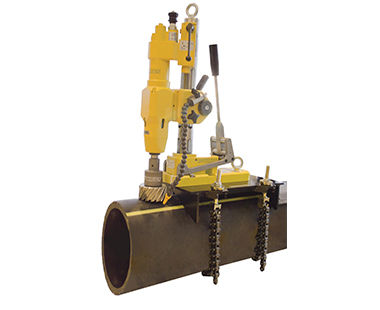 Drill on pipe with optional clamp