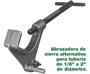 """abrazadera de sierra alternativa para tubería de hasta 2"""""""