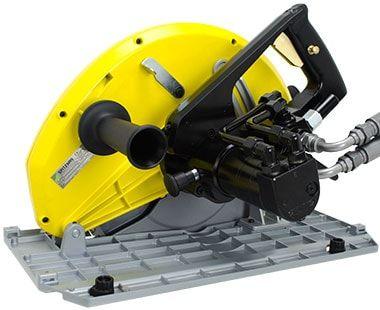 "Back front view 12-5/8"" dia. Heavy-Duty Hydraulic Circular Saw"