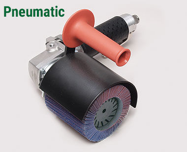 Pneumatic linear grinder/polisher for steel, aluminum and more