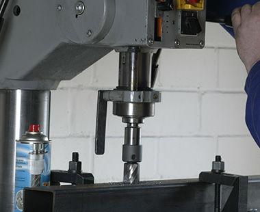 Arbor on drill press application