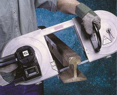 Sierra de cinta portátil eléctrica Deep Throat ™ Modelo 5 6047 0010 corta la sección del riel
