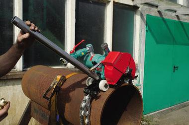 pneumatic motor pipe cutting machine