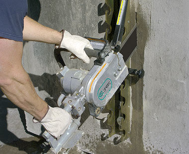 Speed Hook for more leverage when cutting concrete