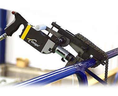 CS75 pneumatic reciprocating saw with clamp on pipe