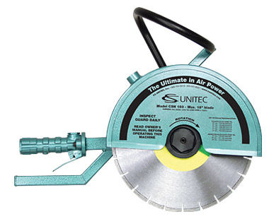 "14"" hand-held cut-off saw with diamond blade"