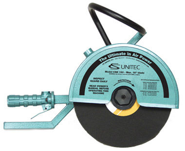 "12"" hand-held cut-off saw with abrasive blade"