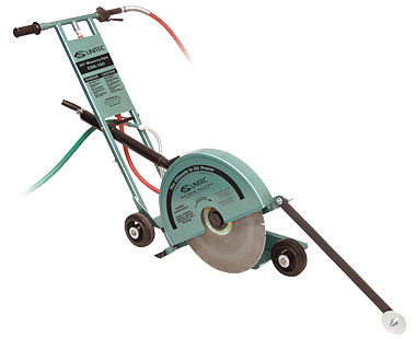 """20"""" walk-behind air concrete saw with pointer guide"""