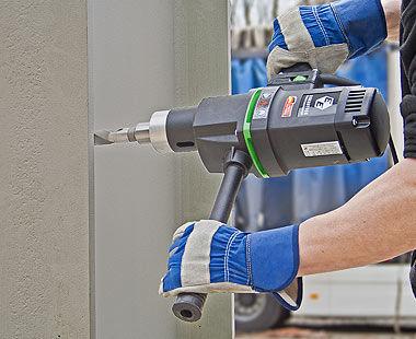 EHB 32 Hand-Held Steel I-Beam Drilling Application
