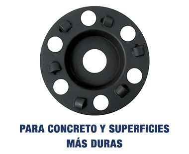 Para concreto y superficies más duras