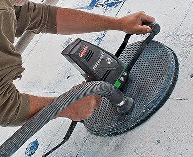 EWS 400 Insulation Board Sander application
