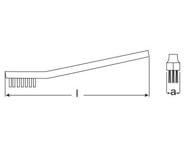 Ex996 Non-Sparking, Non-Magnetic Spark Plug Cleaning Brush diagram