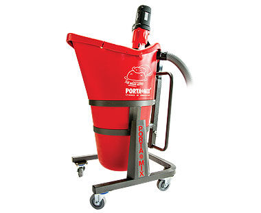 Portable mixing stations for level floors or rough terrain