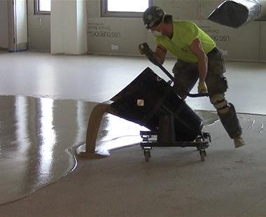Pelican Cart pouring on floor