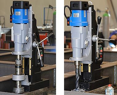 MAB 1300 with cutter and twist drill