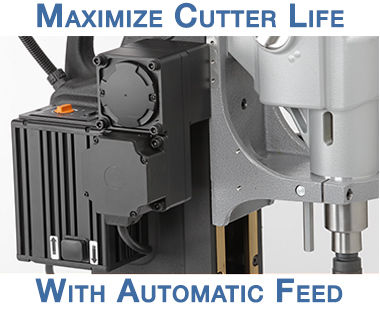 Taladro magnético portátil MAB 1300 V con avance automático