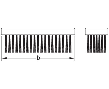 Ex1002 Non-Sparking, Non-Magnetic Flat Back Scratch Brush Dimensional Drawing