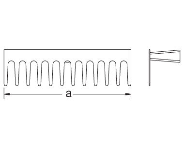 Ex1009 Non-Sparking, Non-Magnetic Rake Dimensional Drawing