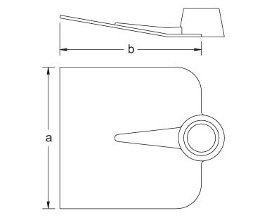 Ex1015 Non-Sparking, Non-Magnetic Mixing/Planter's Hoe Dimensional Drawing