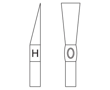 Ex112U Bricklayers' Hammer Dimensional Drawing