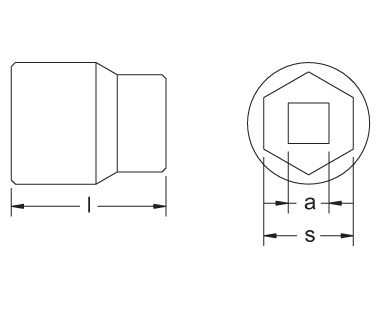 "Ex1540-Met Kit 16-Piece Metric Kit - Regular Sockets, 6-Point, 3/4"" Drive"