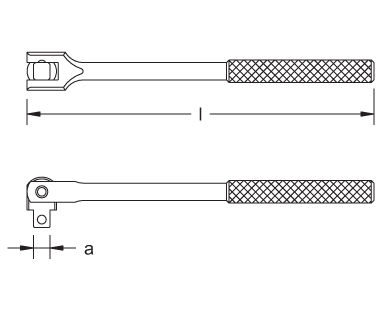 Ex1506 Hinged Handle Dimensional Drawing