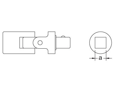 Ex1507 Universal Joint Dimensional Drawing