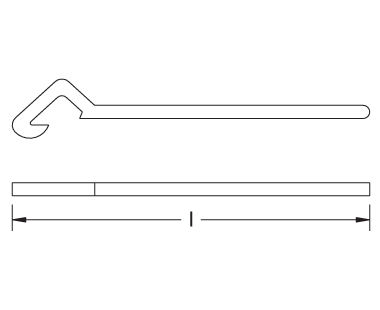 Ex212 Non-Sparking, Non-Magnetic Gas Tube Wrench Dimensional Drawing