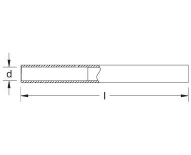 Extensión para llave de estrella dibujo dimensional